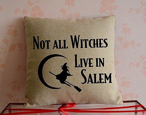 not all witches live in salem amazon pillow case
