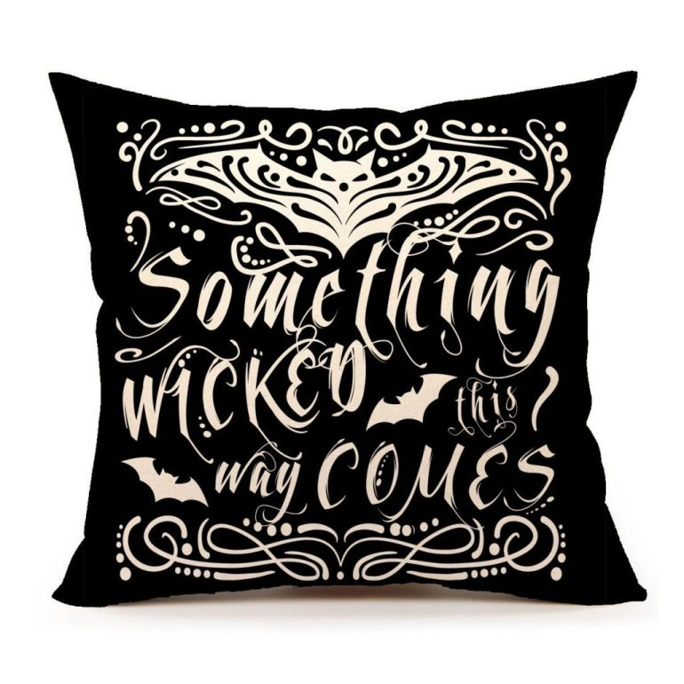 something wicked this way comes black Halloween amazon pillow case