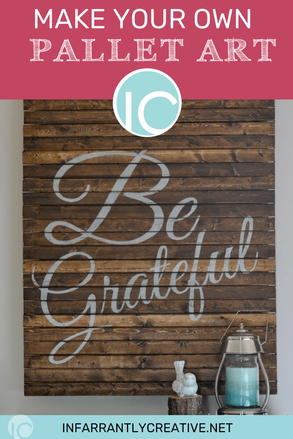 thanksgiving be grateful sign pallet art