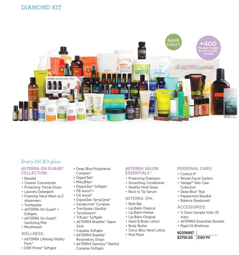 doterra diamond enrollment kit