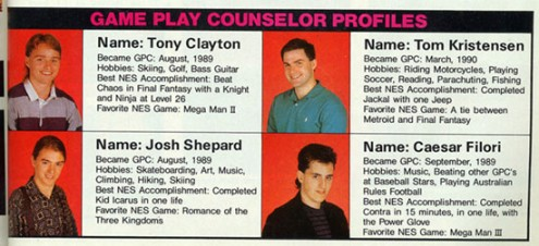 nintendo game play counselors