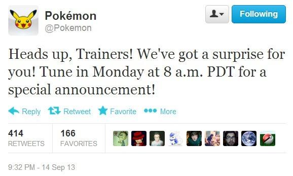 Pokemon Company Twitter Message