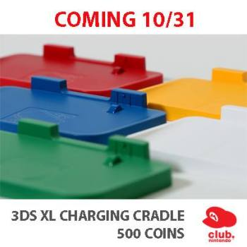 038-Club Nintendo Colorful 3DS XL Charging Cradles