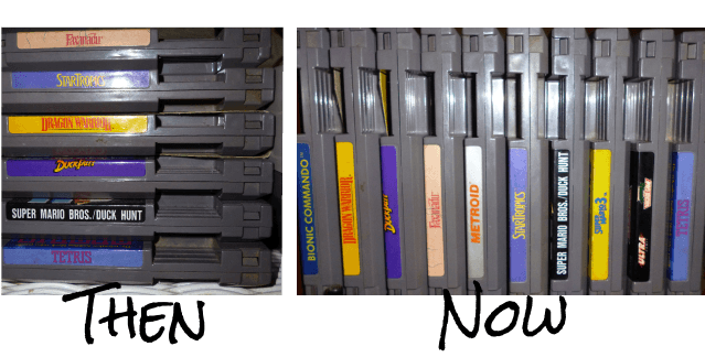 NES Game Then and Now