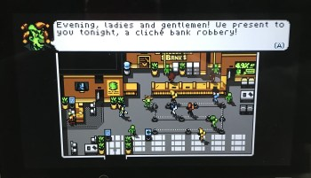 Retro City Rampage DX bank robbery
