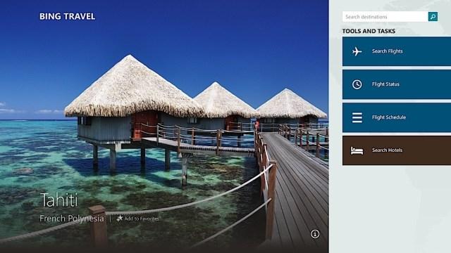 Windows 8.1 Bing-Travel