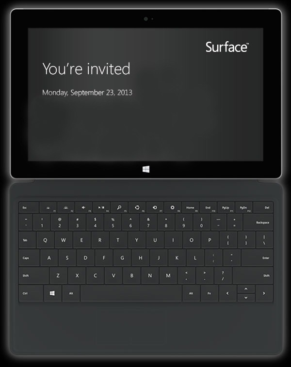 Microsoft Surface 2 Invitation