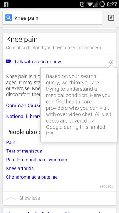 Google-Doctor-Live-Chat-service