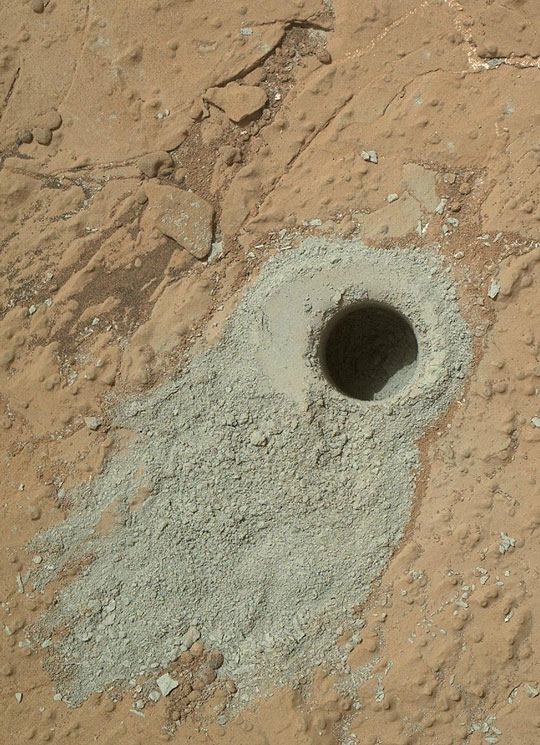 Curiosity-Rover-drilled-MArs