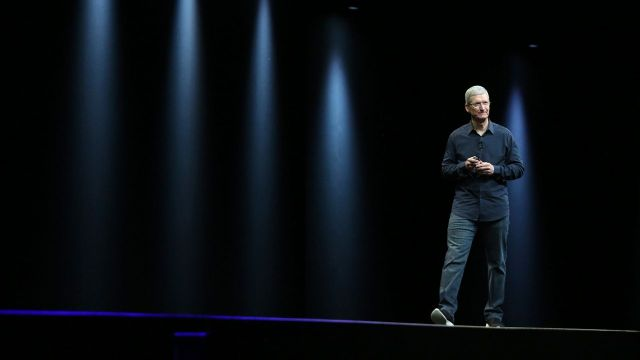 Apple CEO Tim Cook at apple march 2016 event
