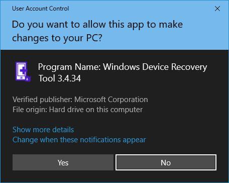 Windows 10 UAC Dark Mode