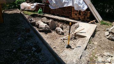 Das alte Fundament muss raus!