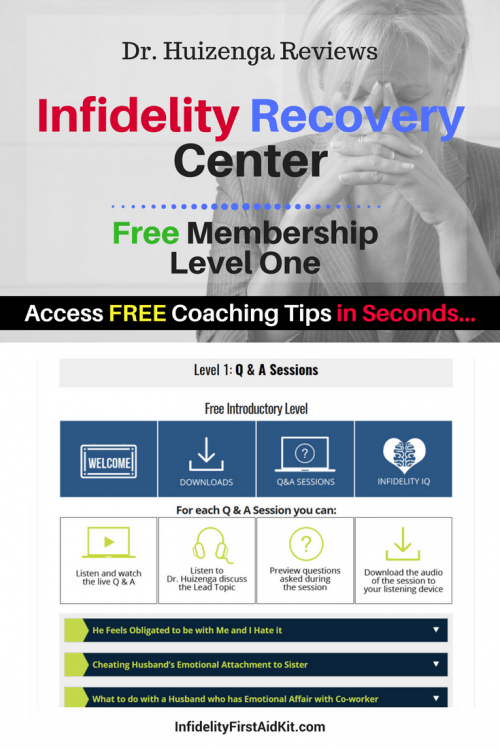 dr. huizenga 's free level one infidelity recovery center membership
