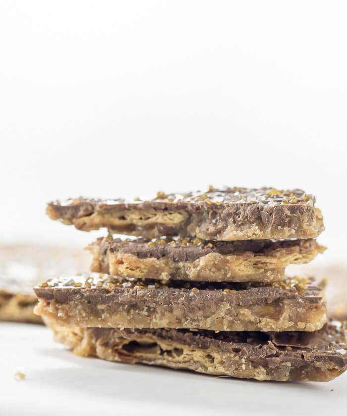 Chocolate Saltine Toffee | www.infinebalance.com