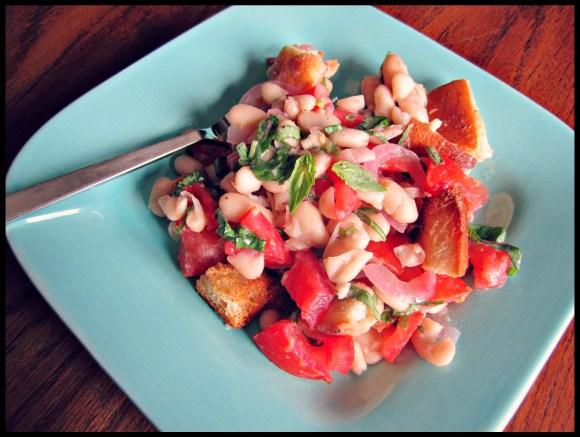 panzanella: tomato and bread salad