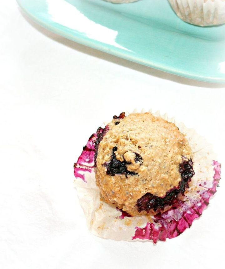 Blueberry Chia Seed Muffins | www.infinebalance.com #recipe #vegan
