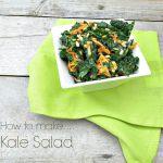 How to Make Kale Salad |www.infinebalance.com #salad #kale #howto