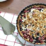 Vegan Berry Almond Tart | Simple vegan pie recipe | www.infinebalance.com