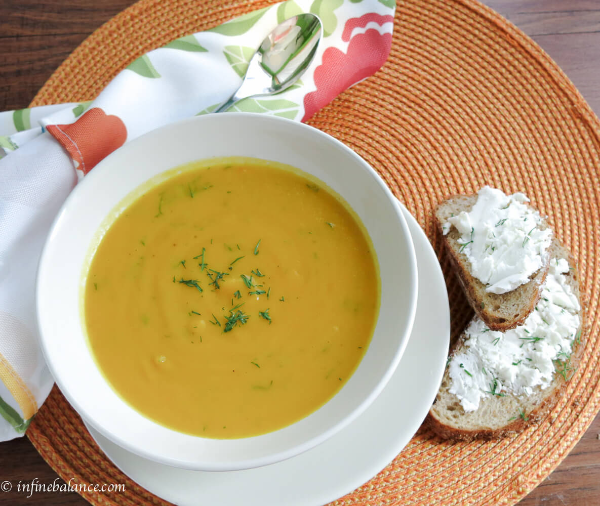 Carrot and Sweet Pepper Soup #MeatlessMondays