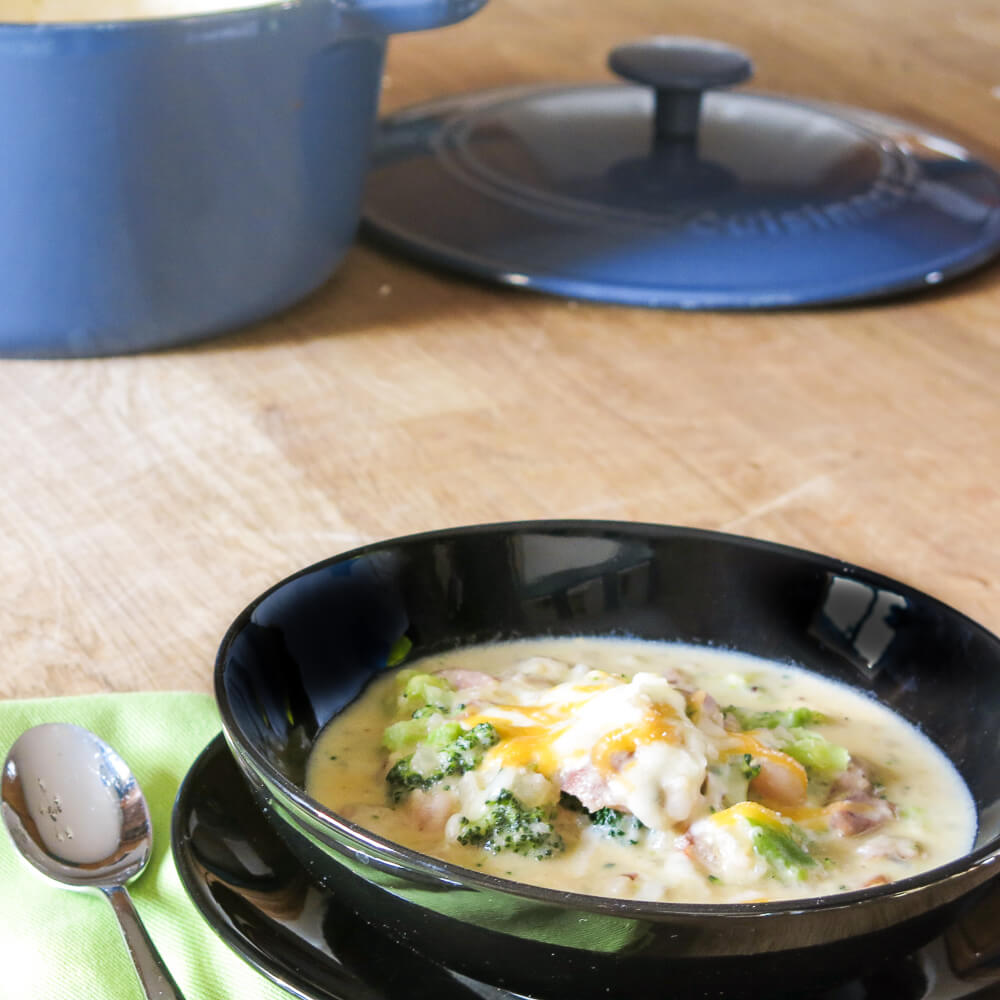 Smashed Potato & Broccoli Soup