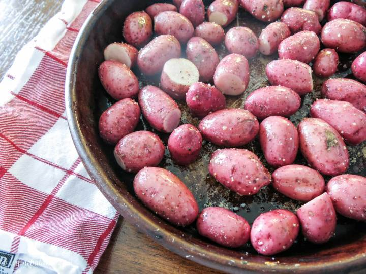 roasted red potatoes for my smasked potato and broccoli soup
