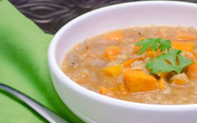 Sweet Potato and Lentil Soup for the Crockpot