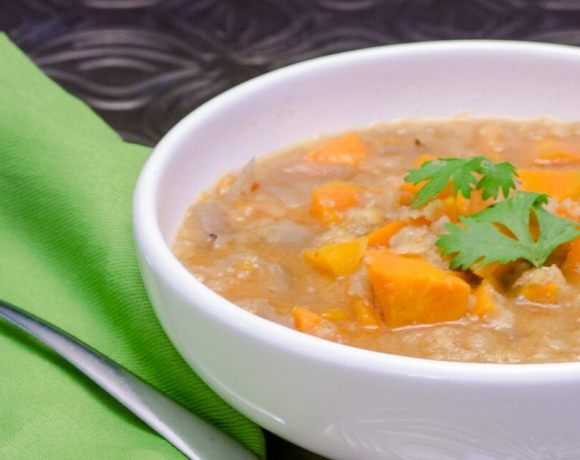 sweet potato soup with lentils