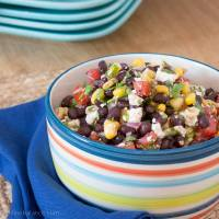Black Bean and Corn Salsa with Feta