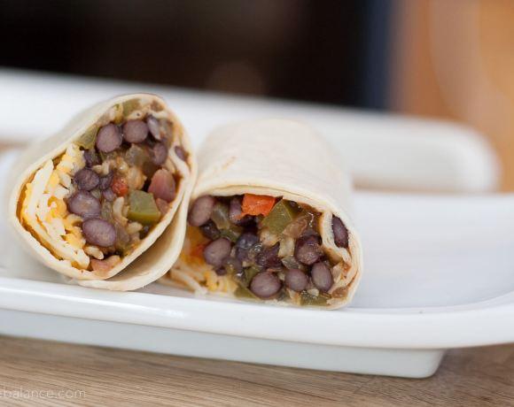 Freezer Burritos - black bean fajita   www.infinebalance.com