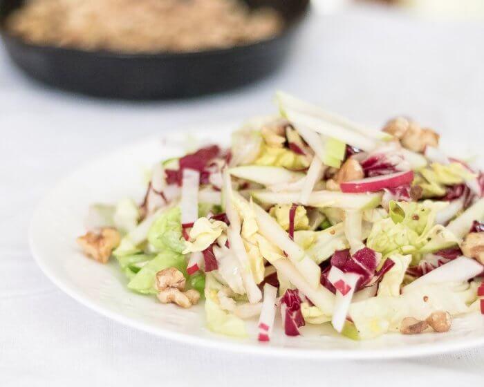 Apple and Radicchio Salad with Walnuts   the infinebalance food blog #vegan