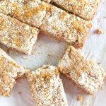 Rhubarb Crumb Bars | www.infinebalance.com #recipe #vegan