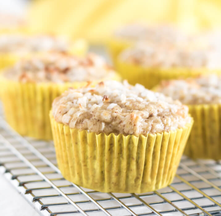 Pineapple Coconut Muffins #GF #V