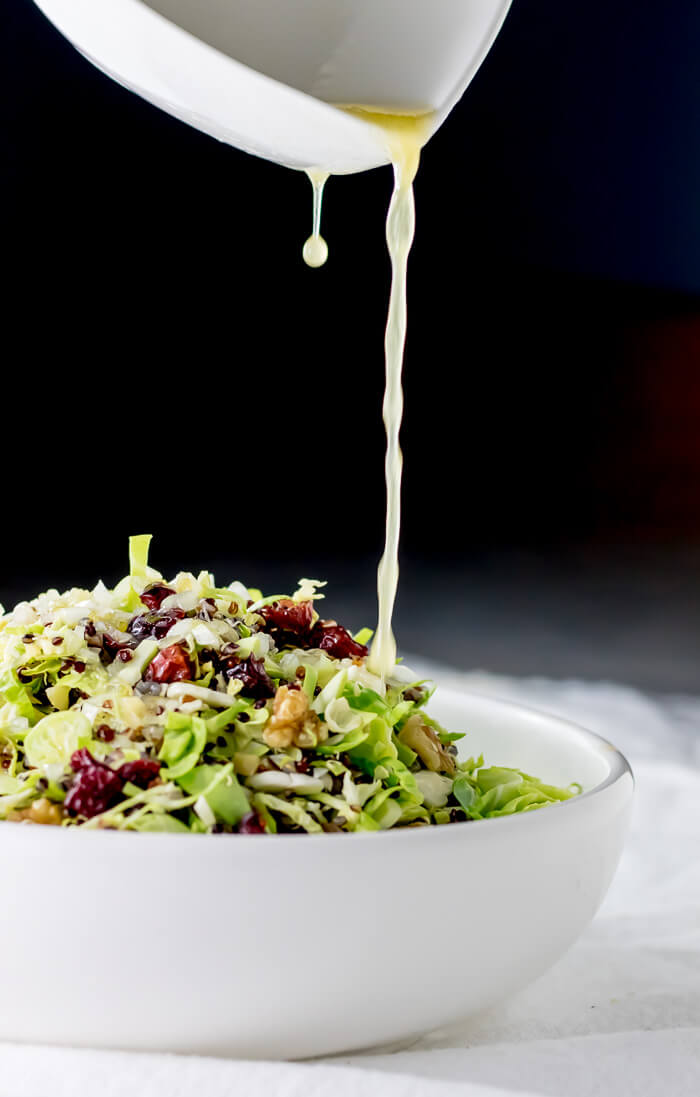 Shaved Shaved Brussels Sprout and Cranberry Salad   www.infinebalance.com