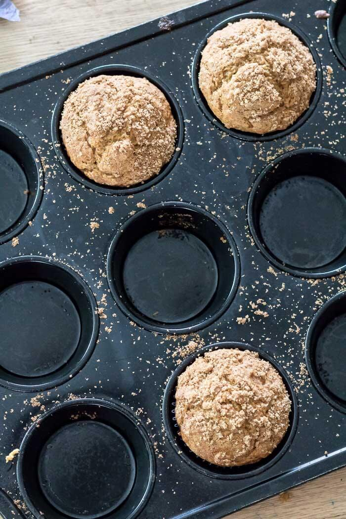 Sugar and Spice Pumpkin Butter Muffins | infinebalance #recipe