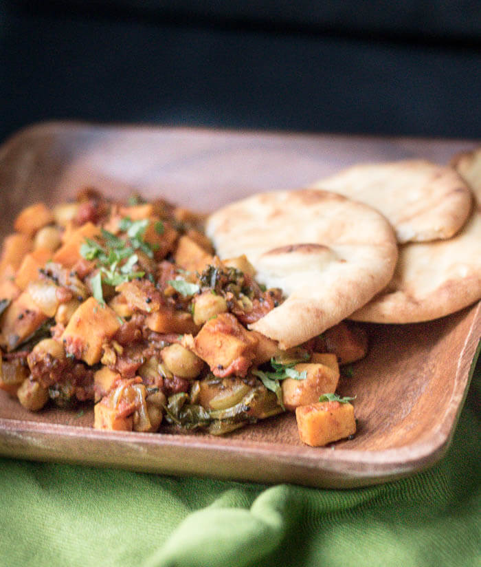 Sweet Potato and Chickpea Curry | www.infinebalance.com vegetarian recipe