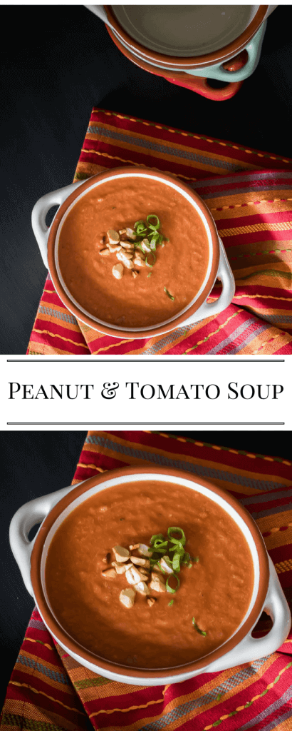 peanut and tomato soup with text