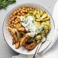 Roasted Chickpea Potato Bowls