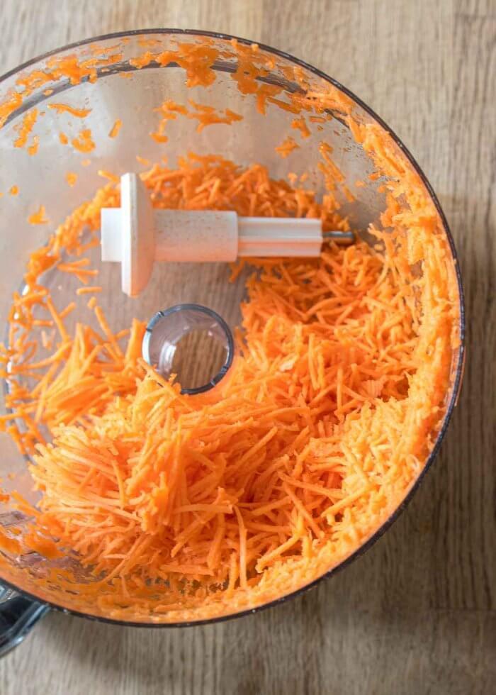 shredded carrots for carrot cake