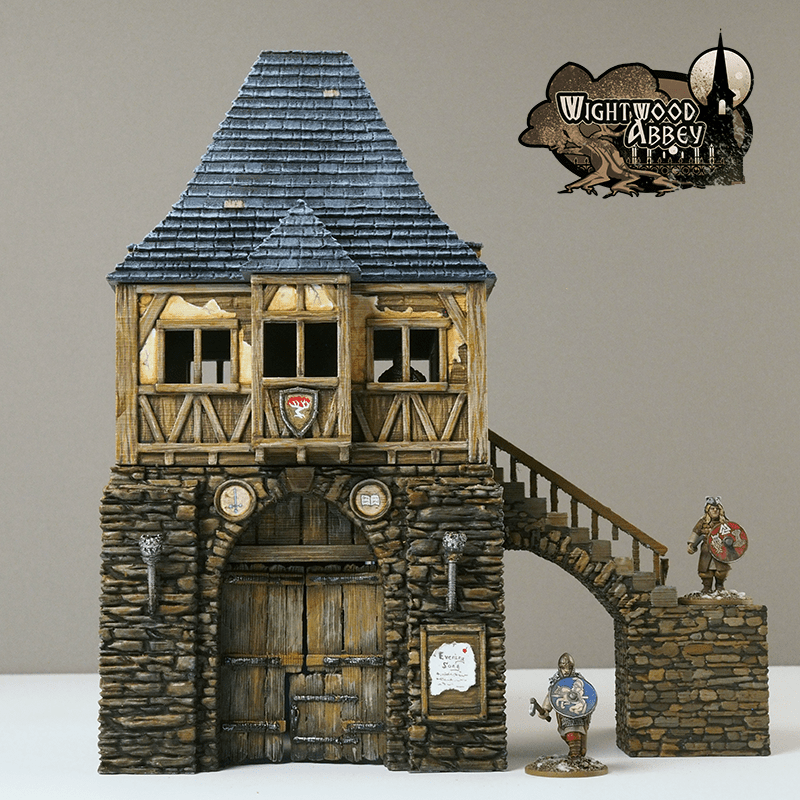Wightwood Abbey Gatehouse painted