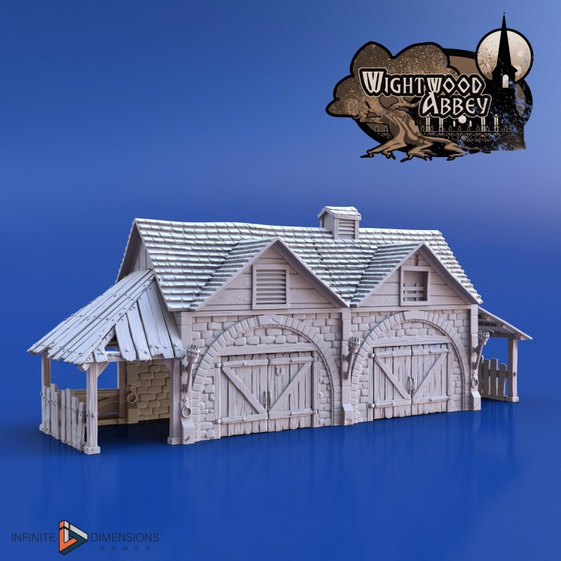 3D printable medieval stables