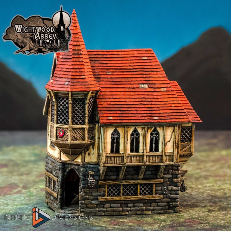 3D printable medieval house