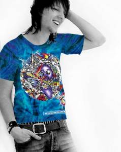 Mr Fantasy T-shirt - Men's purple tie dye, 100% cotton crew neck cut, short sleeve tee.