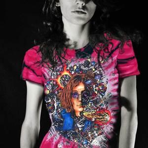 Number 9 - Tie Dye Pink Inspired by John Lennon Women's T-shirt