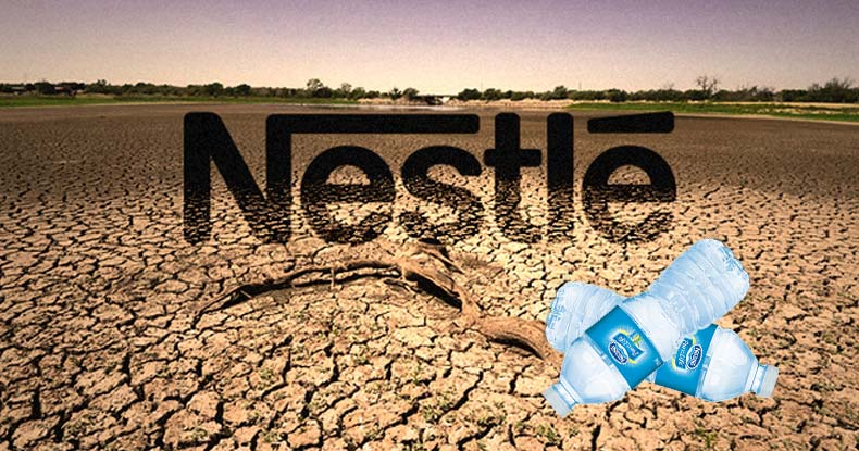 Image result for nestle causes drought map