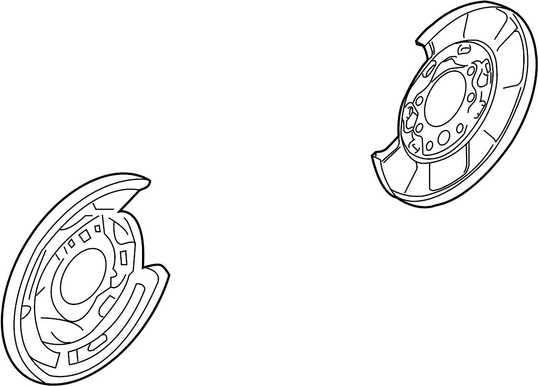 Infiniti G35 Brake Dust Shield Left Rear Disc Normal