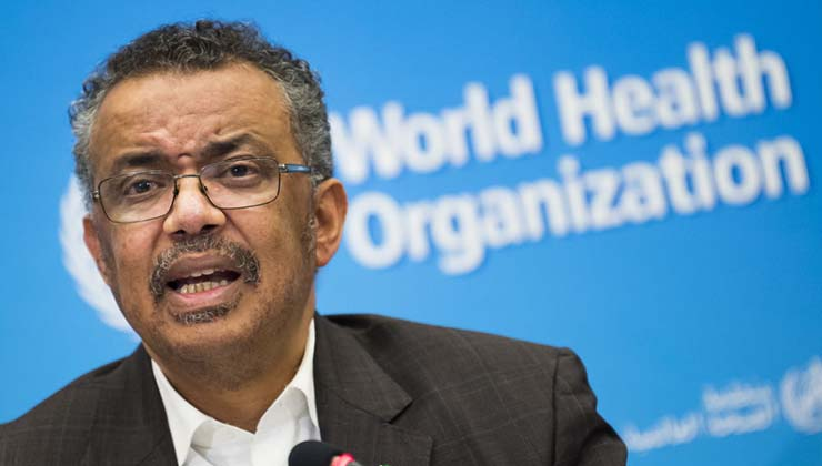 The president of WHO warns that the outbreak of coronavirus is a serious threat to humanity