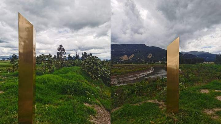 Gold Monolith Appears In Colombia