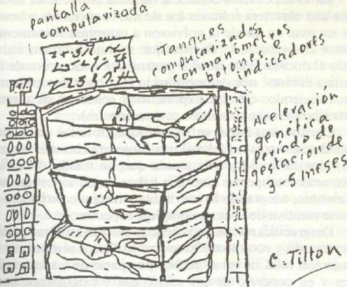 Drawing Of humans in chambers By Christa Tilton