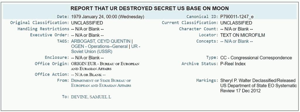 Soviet Union Destroy A Secret US base On The Moon