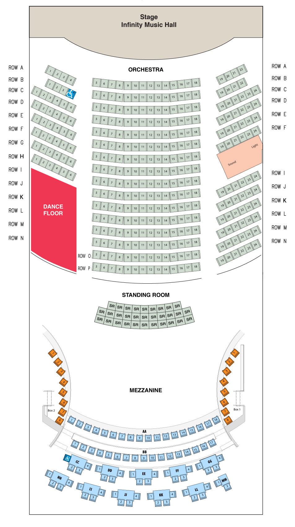 Comcast Theatre Hartford Seating Chart